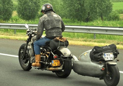 Diesel Motorcycle one wheel trailer
