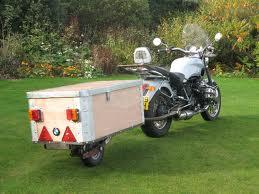 single wheel motorcycle trailer