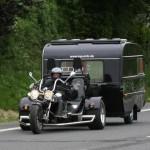Trike hauling motorcycle trailer camper