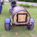Wood barrel Motorcycle Trailer