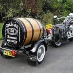 Wood barrel Motorcycle Trailer- jack daniels