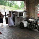 wedding day motorcycle trailer