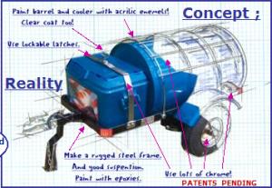 RE Plante Motorcycle barrel trailers