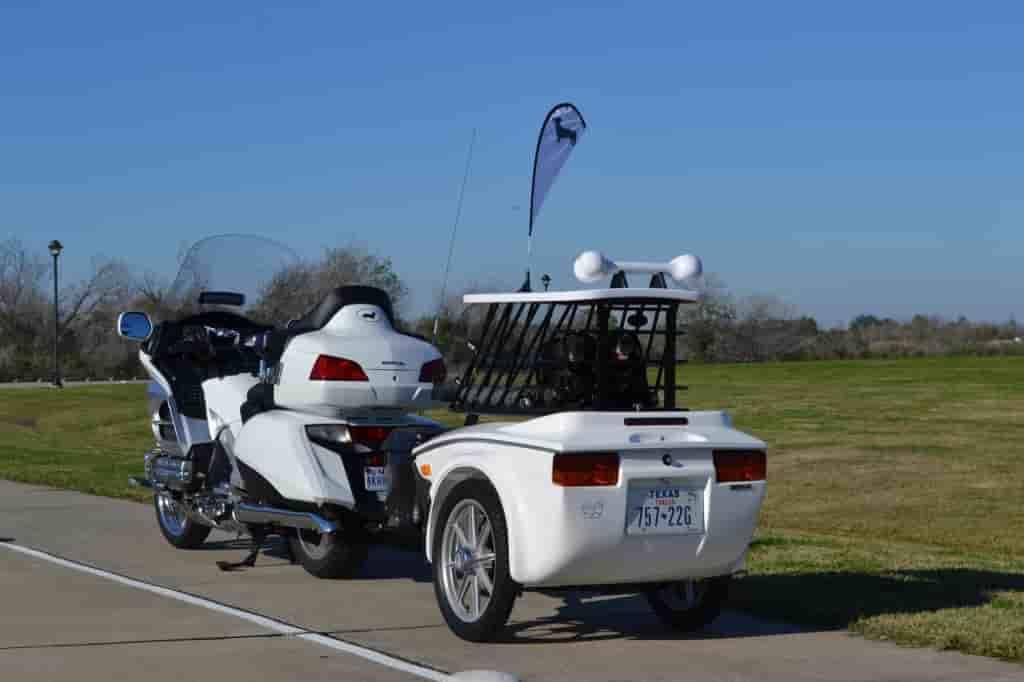 weiner-trailer-pet hauler dog motorcycle trailer
