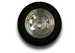 Trailer Tire and Wheel - 4 Hole Chrome