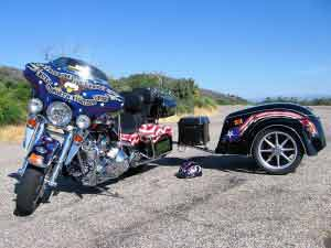 harley davidson BIKE-AND-TRAILER