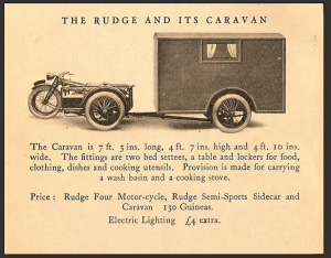 Riding Vintage  The Rudge and Its Caravan