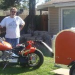 red diamond plate motorcycle trailer