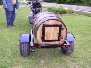Wood barrel Motorcycle Trailer