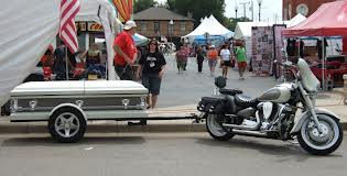 Coffin and Hearse Motorcycle Trailers