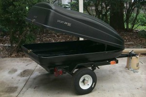 Sears cartop motorcycle cargo trailer