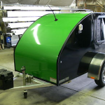 camper motorcycle trailer