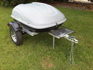Pull Behind Motorcycle Trailer Tow Touring Bike