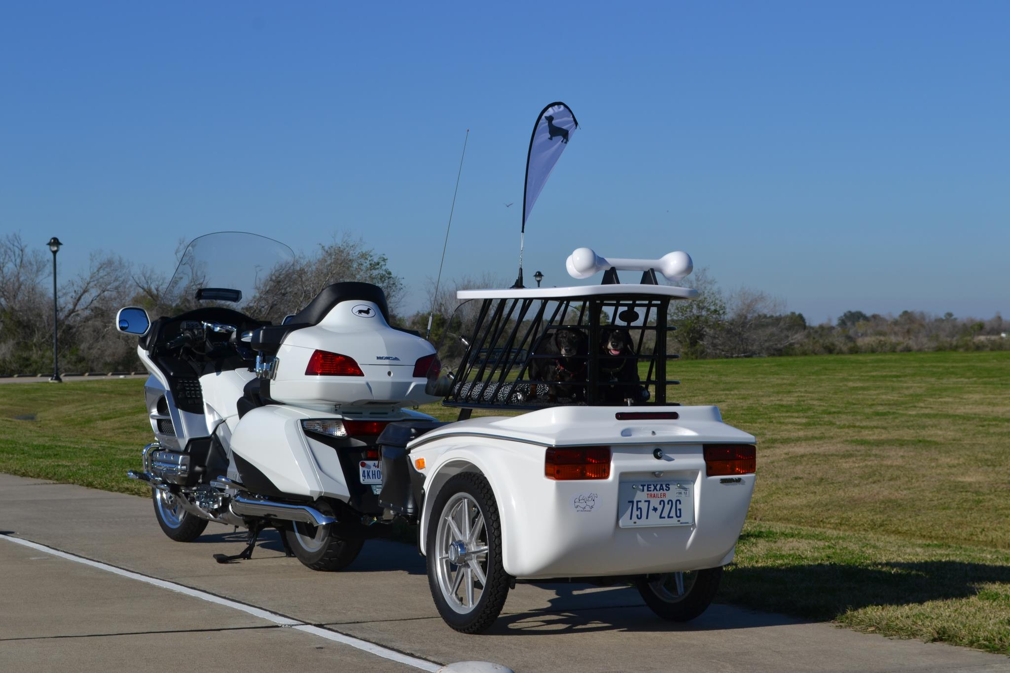 Pet Hauler Motorcycle Trailers Pull Behind Motorcycle
