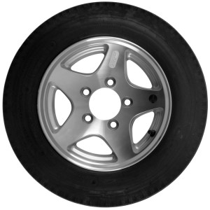 4.80X12 Trailer Tire On 5 Bolt Aluminum 5 Star Rim Tire Combo 12 inch 4.80-12
