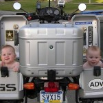 Babies in the saddlebags
