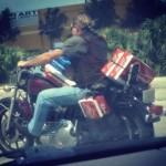 biker beer hauler