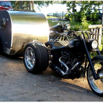 teardrop trailer behind trike