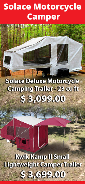 Solace motorcycle camping trailer